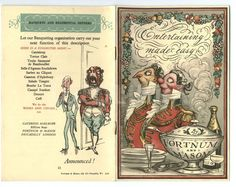 """""""Entertaining Made Easy"""" catalogue illustrated by Rex Whistler for Fortnum & Mason, 1936."""