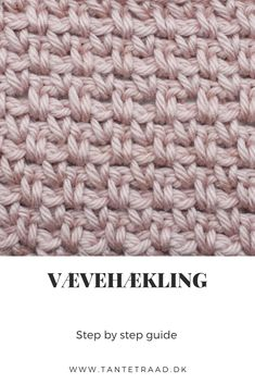 Vævehækling - Hæklemønster - Trin for trin - Crochet Pouch, Crochet Stitches, Free Crochet, Crochet Patterns, Crochet Hats, Scarfie Yarn, Outlander Knitting Patterns, Rainbow Waffles, Pouch Pattern