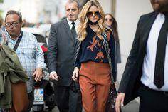 Olivia Palermo seen during Milan Fashion Week Spring/Summer 2017 on September 22 2016 in Milan Italy