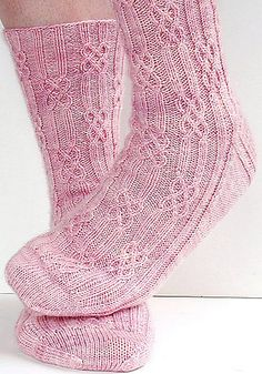 Ravelry: lateniteknitter's Brigit, toe-up socks with twisted stitches and cables, knitted in Oceanwind Knits Sock Merino. Free sock pattern: Brigit by Monkey Toes. Crochet Socks, Knitting Socks, Baby Knitting, Knit Crochet, Knit Socks, Knitting Projects, Crochet Projects, Knitting Patterns, Crochet Patterns