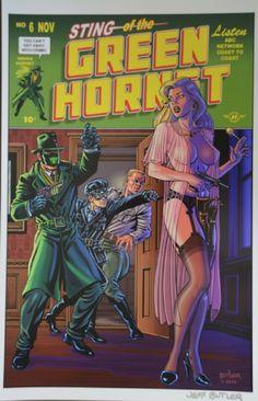 Green Hornet  cover  color art - Jeff Butler Comic Art
