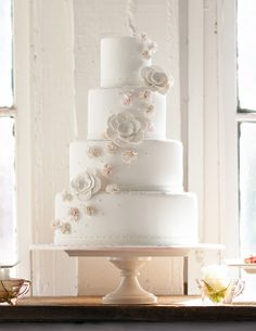 Romantic Wedding Cake by Lovely Cakes