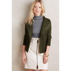 Sparrow Textured Wool Moto Jacket
