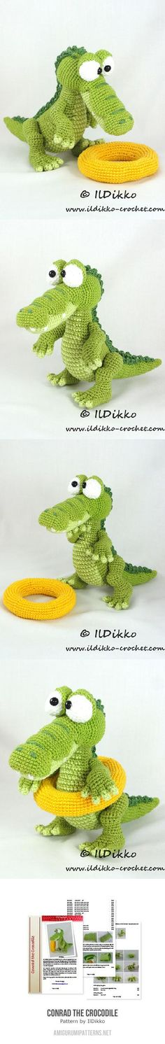 Conrad The Crocodile Amigurumi Pattern