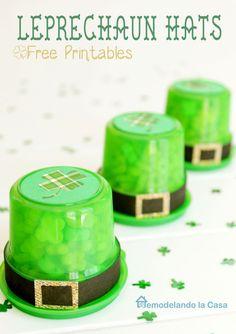 Easy idea for St. Patrick's day  -Leprechaun Hats -Kids Treats -