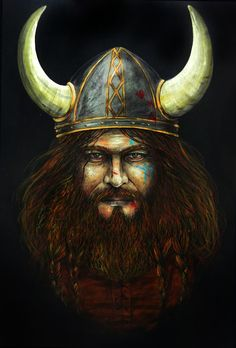 """""""Viking"""" Oil in canvas by Flopy Valhala"""