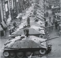 A great look into a very active Hetzer production factory.