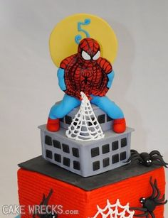 Well that totally explains why the web shoots out like it does.  Close your eyes Spidey- it burns- it burns!