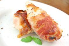 Pollo envuelto en tocineta, miel y mostaza