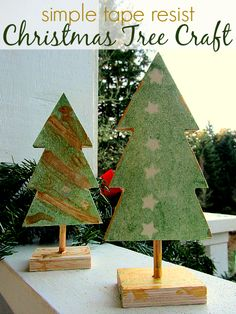 Really cute and actually really easy Christmas craft for kids.