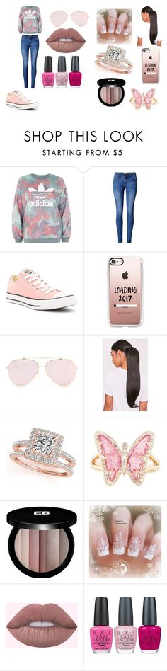 """So Glad It's 2017"" by breezybrebre on Polyvore featuring beauty, adidas, WithChic, Converse, Casetify, Allurez, Luna Skye, Edward Bess and OPI"