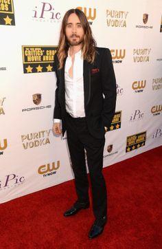 Jared Leto at the Critics' Choice Awards.