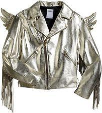 Jeremy Scott gold wings leather jacket