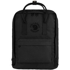 Fjallraven Women's Kanken Backpack ($90) ❤ liked on Polyvore featuring bags, backpacks, ox red, fjallraven backpack, padded backpack, polyester backpack, day pack backpack and padded bag