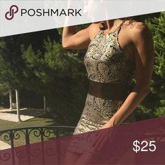 Gold Black Sequin dress Size 4. Worn once. Dresses Mini