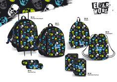"""Skulls Theme for Loumakat """"Evermore"""" bags Skulls, Fashion Backpack, Backpacks, Bags, Design, Handbags, Totes, Women's Backpack, Skull Art"""