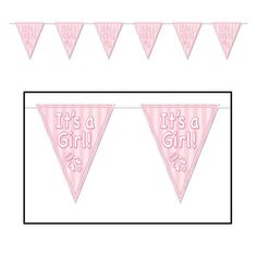 It's a Girl Pennant Banner | 12ft