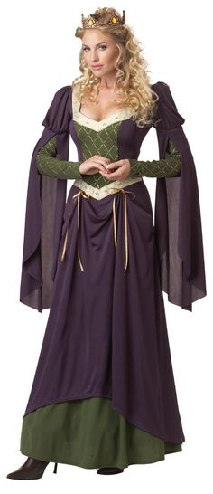 renaissance clothing | Lady IN Waiting Medieval Queen Costume Adult NEW | eBay