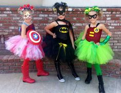 "Girl Super Hero  / Birthday ""Triplets Super Hero Party "" 