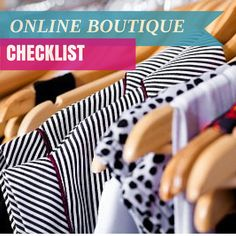 Owning an online boutique can be fun, exciting, profitable and confusing. You can spend the next few weeks reading and learning everything, but sometimes you want a quick start. Here's a checklist of the main things you'll need to get your online store started