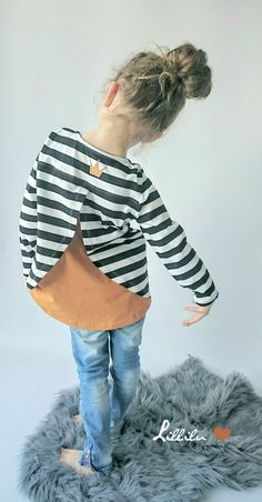 "Nähanleitungen Kind - Ebook Longshirt ""YARA"" - Gr. 80 - 158 - ein Designerstück von petitetjolie bei DaWanda"