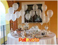 wedding decoration candy table filigree qualatex tavolo confettata decorazione con palloncini matrimonio elegante globos mesa dulce boda