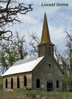old church in a locust grove | by mamakytomany