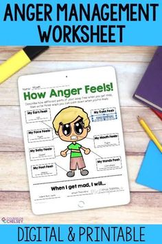 This no prep anger management worksheet will help students identify how their bodies feel when they are angry. Students will also list 3 ways that they can cope with their anger. This is an easy addition to your individual, small group and classroom lessons focused on anger management.