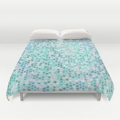 Buy ultra soft microfiber Duvet Covers featuring Pattern Mosaic Serie lightblue by Christine baessler. Hand sewn and meticulously crafted, these lightweight Duvet Cover vividly feature your favorite designs with a soft white reverse side.