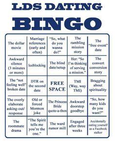 LDS Dating Bingo