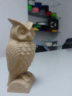 www.moebyus.com wood 3d printed owl wooden filament