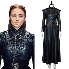 Game of Thrones 8 Sansa Stark Cosplay Costume TV series:Game of Thrones 8 Character:Sansa Stark Including:Dress + belt + shoulder belt + breast chain Fabric:leather,velvet Costumes Game Of Thrones, Game Of Thrones Outfits, Game Of Thrones Dress, Game Of Thrones Sansa, Game Of Thrones Cosplay, Got Costumes, Cosplay Costumes, Sansa Stark Costume, Morgana Le Fay