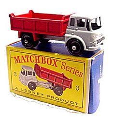 1960s Matchbox No 3 Bedford Tipper Truck in Box