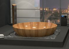 Wooden Bathtubs for Modern Interior Design and Luxury Bathrooms