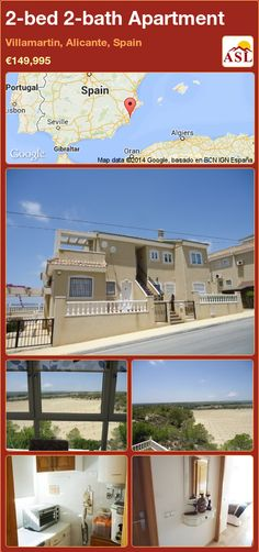 2-bed 2-bath Apartment in Villamartin, Alicante, Spain ►€149,995 #PropertyForSaleInSpain