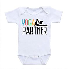 Yoga Partner cute funny with for baby babies mom and prenatal online video mommy classes poses postnatal regnant toddler me bodysuit Mom And Baby, Baby Girls, Niece And Nephew, Yoga Poses, Onesies, Infant, Girl Outfits, Bodysuit, Online Video