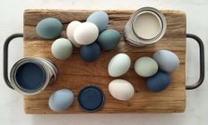 """Love these paint colors - """"A Jeff Lewis Easter"""" Shop the palette: Ink Blot, Aloe, Salt Water, Dirty Martini, and Green with Envy"""