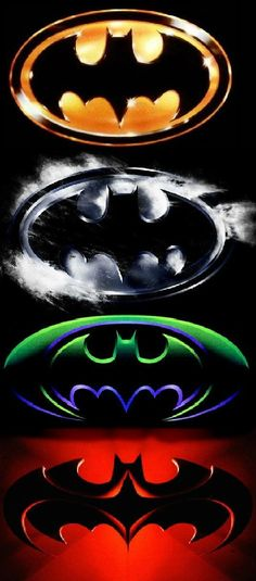 These images are of the 4 Batman films prior to Nolan's trilogy. From top to bottom...Batman, Batman Returns, Batman Forever, n Batman n Robin.
