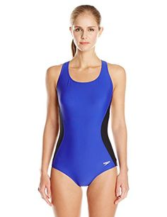 72243bf8f8 Women s Athletic One-Piece Swimsuits - Speedo Womens Illusion Splice  Ultraback OnePiece Fitness Swimsuit -- More info could be found at the  image url.