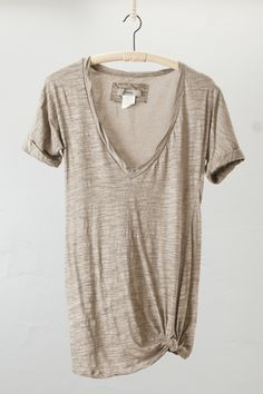 Oatmeal colored slouchy tee