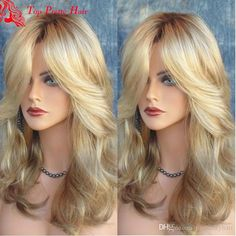 2020 Fashion Blonde Wigs For White Women Affordable Blonde Human Hair - Wcwigs Real Hair Wigs, Human Hair Wigs, Frontal Hairstyles, Wig Hairstyles, Lace Front Wigs, Lace Wigs, Loreal Excellence, Perfect Blonde Hair, Blonde Hair With Highlights
