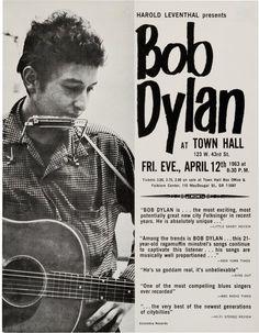 1963 Bob Dylan concert poster....