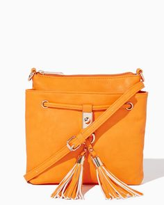 Amirah Tassel Crossbody Bag | UPC: 450900493592 Tangerine, Orange, COTM