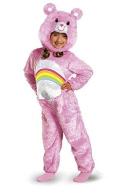 Care Bears Cheer Bear Deluxe Plush Costume PinkRainbow Toddler Medium3T4T -- You can get more details by clicking on the image.