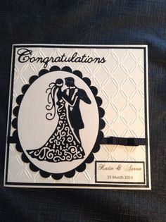 Wedding card using tattered lace couple die