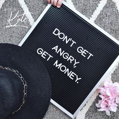 """Baby toes and words of wisdom for this fine Wednesday Morning. It's time to let go of your frustration and let that fire burn into flames of passion for whatever it is you're doing today. """"Don't get angry, get money."""" • • • • • #getmoney #bepassionate #passion4fashion #mindsetmatters"""