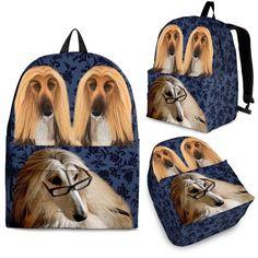 f1d3bb5f659c Afghan Hound Dog Print Backpack-Express Shipping – The Whisker Depot Animal  Print Backpacks,