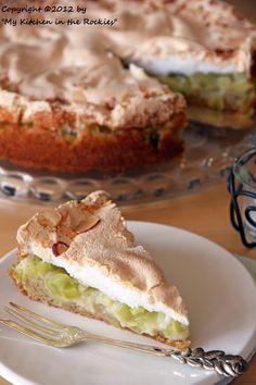 German Rhubarb Cake with Meringue Topping Colorado Denver Foodblog German recipes My Kitchen in the Rockies | A Denver, Colorado Food Blog