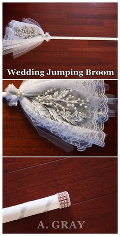 DIY Wedding Jumping Broom. Wedding Jumping Broom for that wedding tradition of sweeping out the old and bringing in the new.