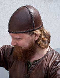 Hand sewn Birka cap (4,5mm leather) by Henrik Nordholm  https://www.facebook.com/pages/Henrik-Nordholm/254634504677319
